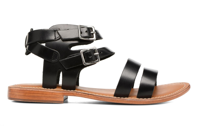 Sandales et nu-pieds L'Atelier Tropézien Liz Noir vue derrière