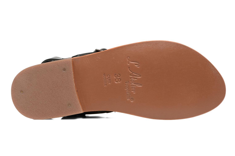 Sandales et nu-pieds L'Atelier Tropézien Liz Noir vue haut