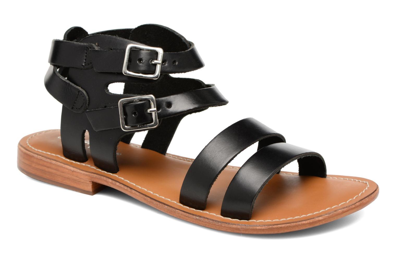 Sandales et nu-pieds L'Atelier Tropézien Liz Noir vue détail/paire