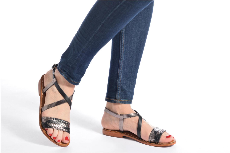 Sandales et nu-pieds L'Atelier Tropézien Suzanne Multicolore vue bas / vue portée sac