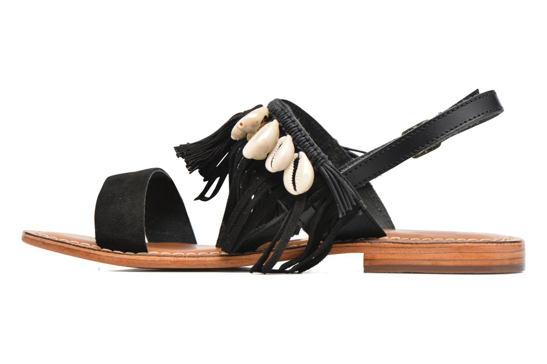Sandalen L'Atelier Tropézien Shoshana Zwart voorkant