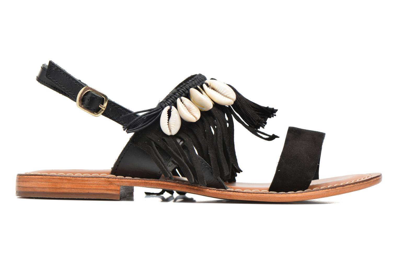 Sandalen L'Atelier Tropézien Shoshana Zwart achterkant