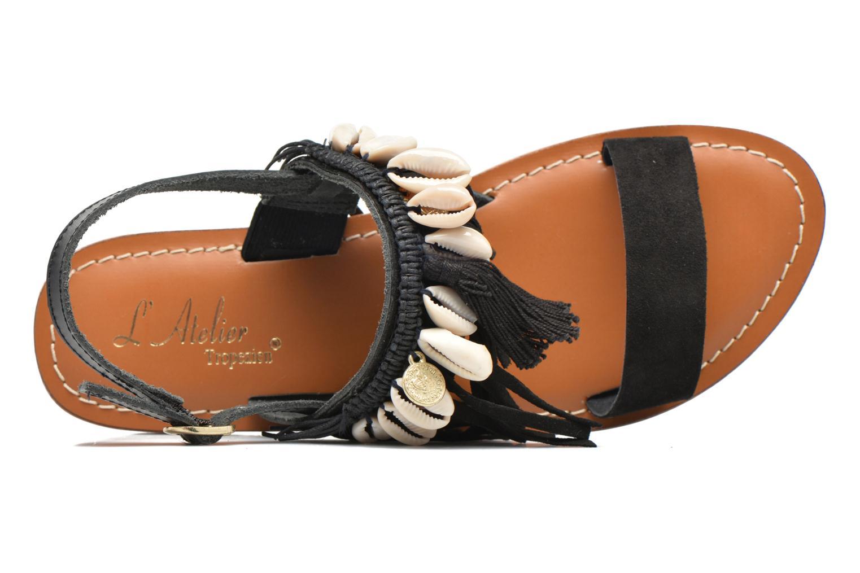 Sandali e scarpe aperte L'Atelier Tropézien Shoshana Nero immagine sinistra
