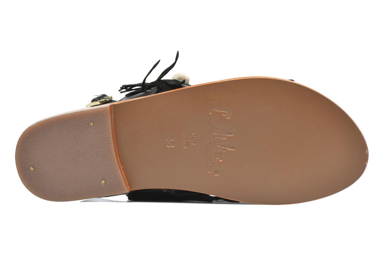 Sandali e scarpe aperte L'Atelier Tropézien Shoshana Nero immagine dall'alto