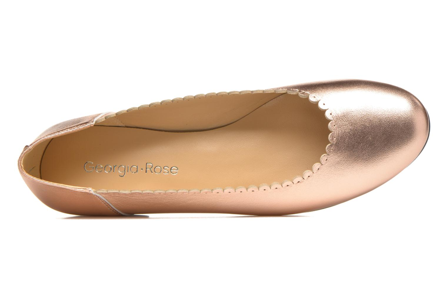Ballet pumps Georgia Rose Sanfeston Bronze and Gold view from the left
