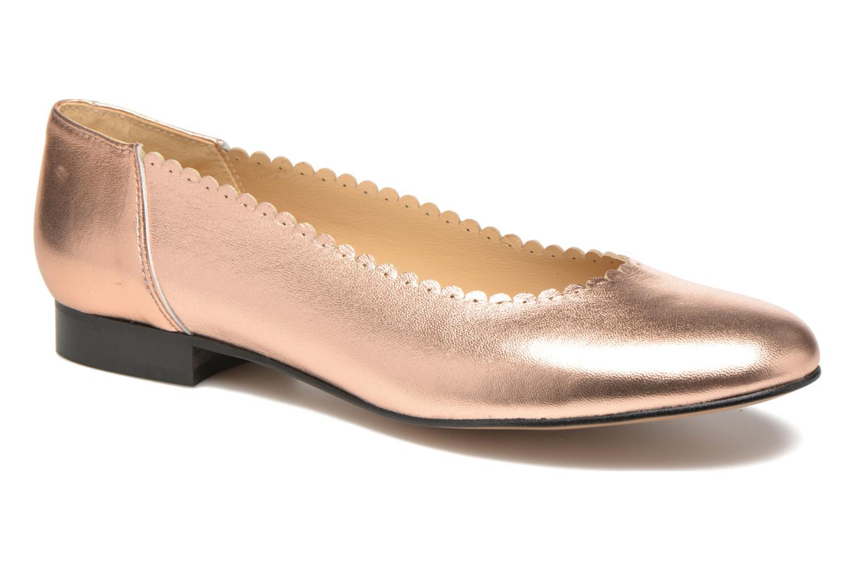 Ballet pumps Georgia Rose Sanfeston Bronze and Gold detailed view/ Pair view
