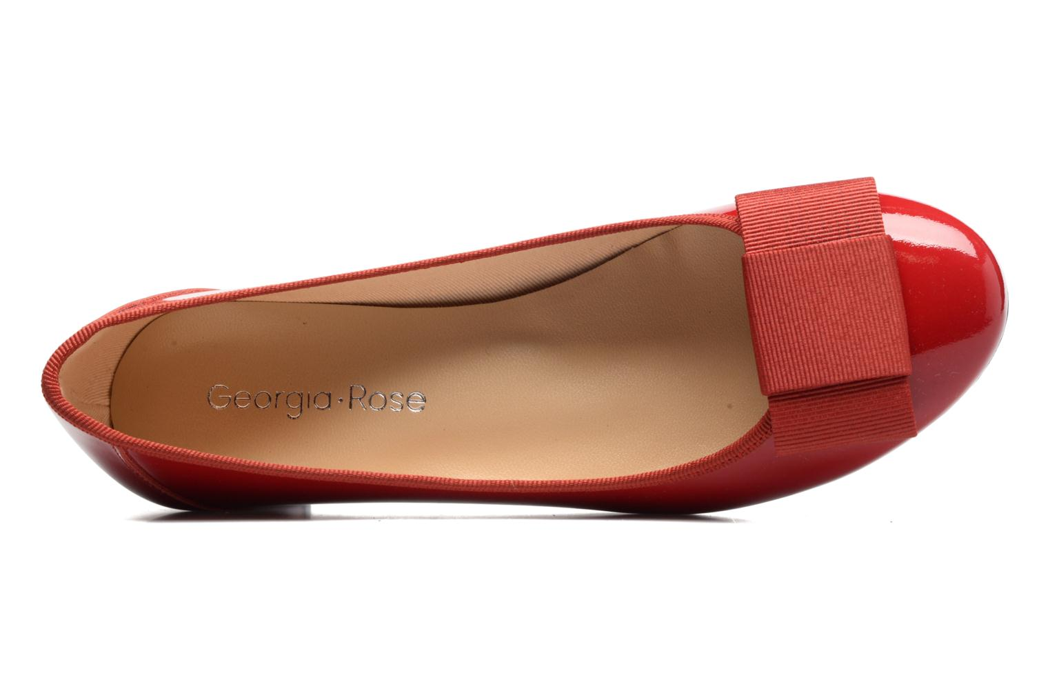 Ballet pumps Georgia Rose Santoomi Red view from the left