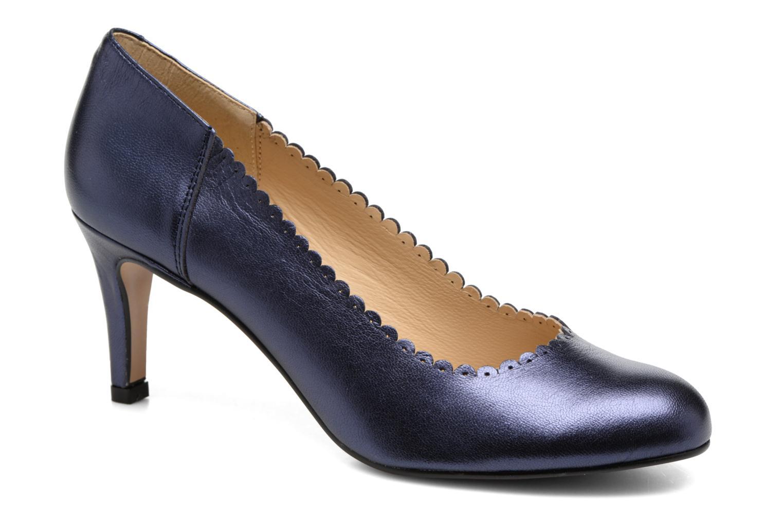 Høje hæle Georgia Rose Saston Blå detaljeret billede af skoene