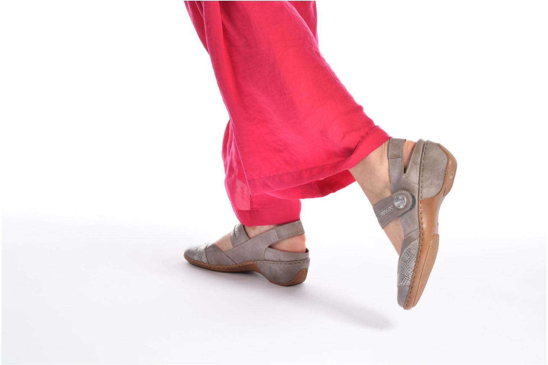 Zapatos de tacón Rieker Lieve 47176 Beige vista de abajo