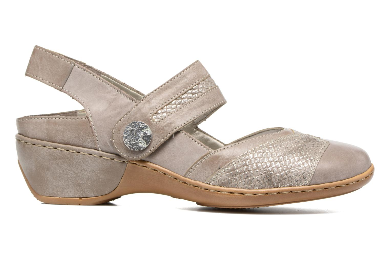 Zapatos de tacón Rieker Lieve 47176 Beige vistra trasera