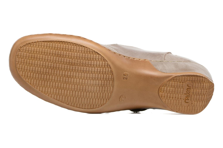 Zapatos de tacón Rieker Lieve 47176 Beige vista de arriba
