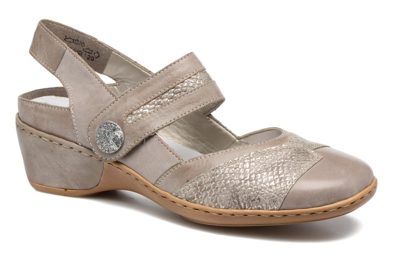 Zapatos de tacón Rieker Lieve 47176 Beige vista de detalle / par