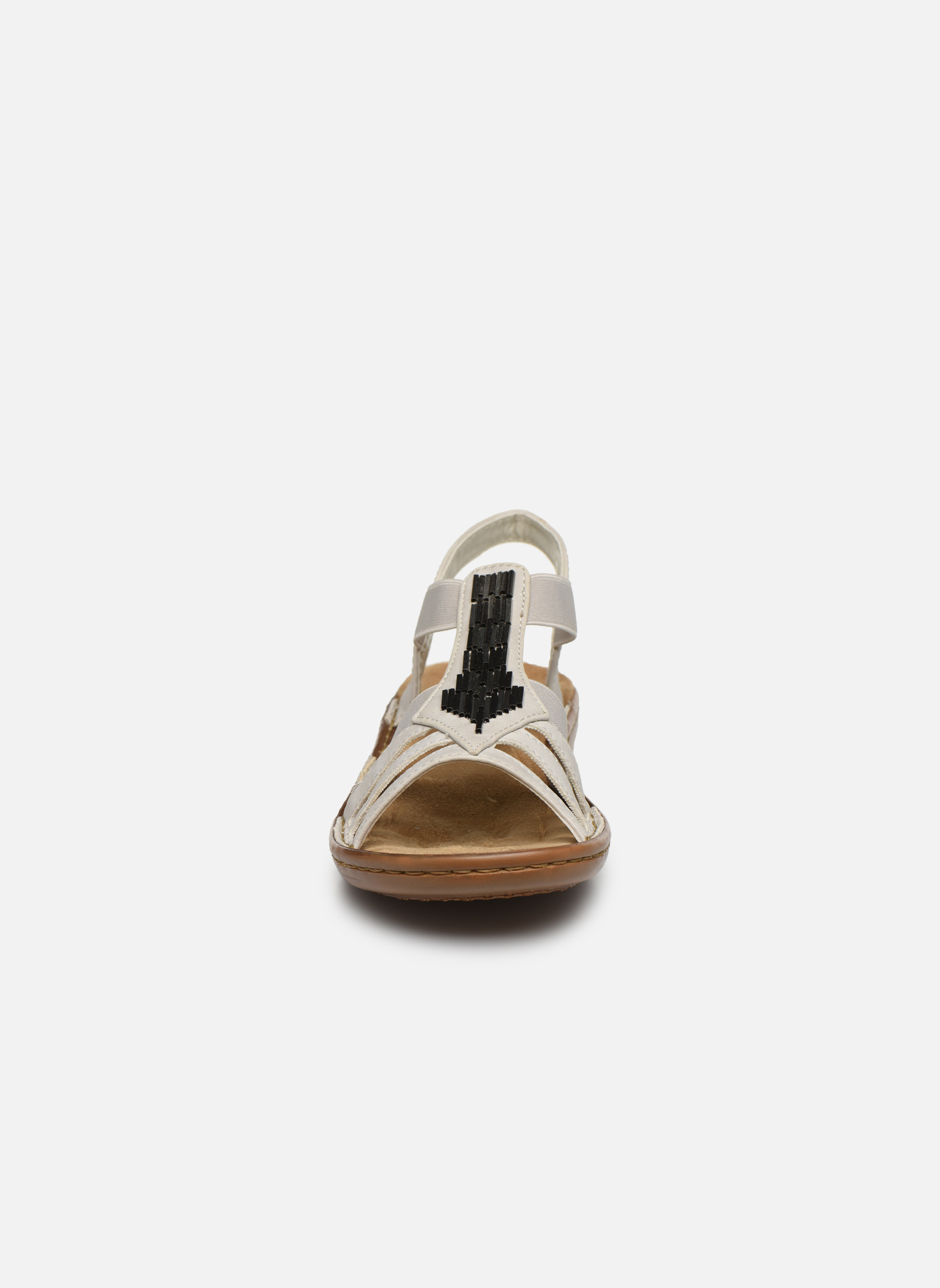 Sandales et nu-pieds Rieker Amty 60801 Blanc vue portées chaussures