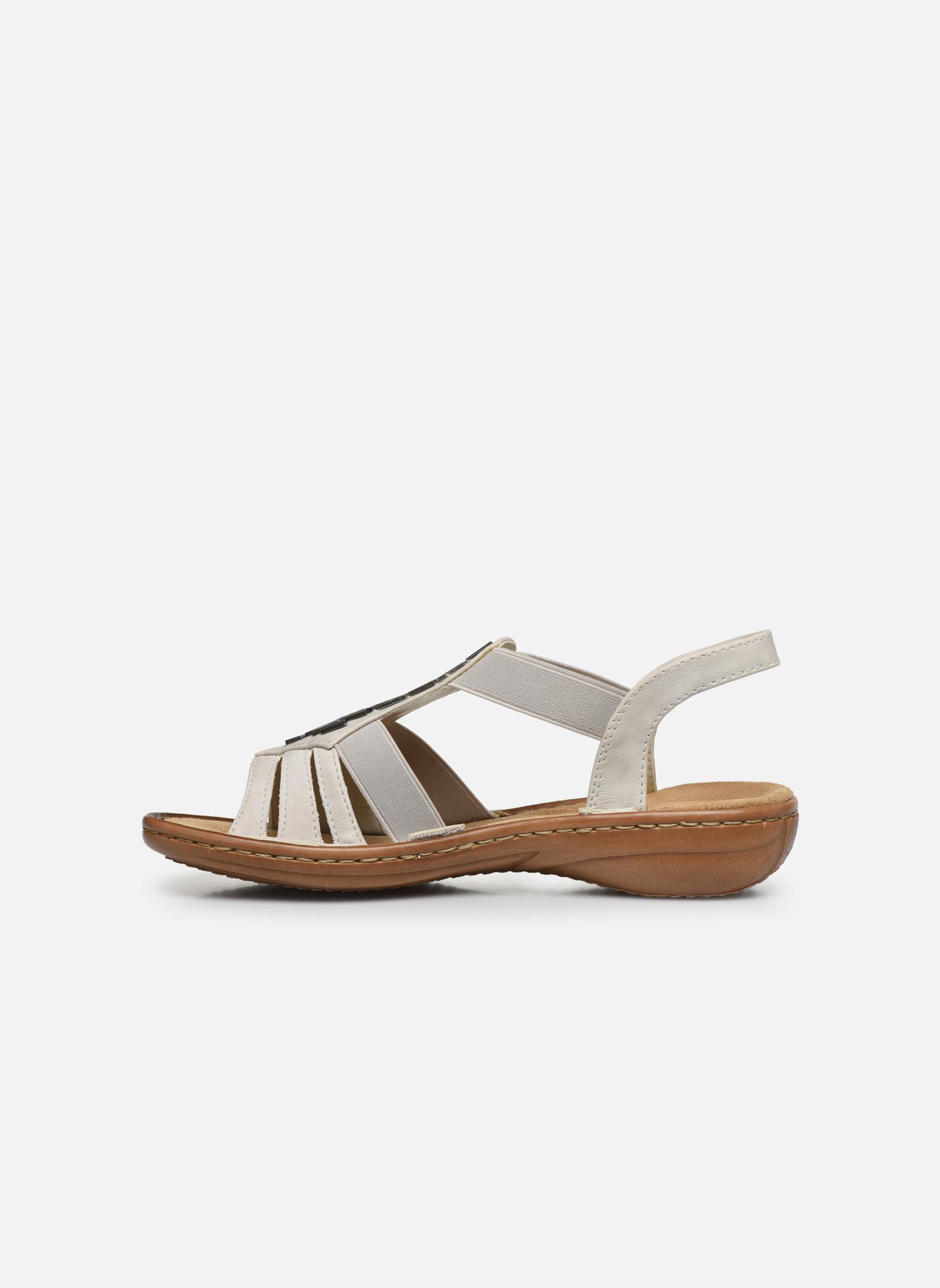 Sandales et nu-pieds Rieker Amty 60801 Blanc vue face