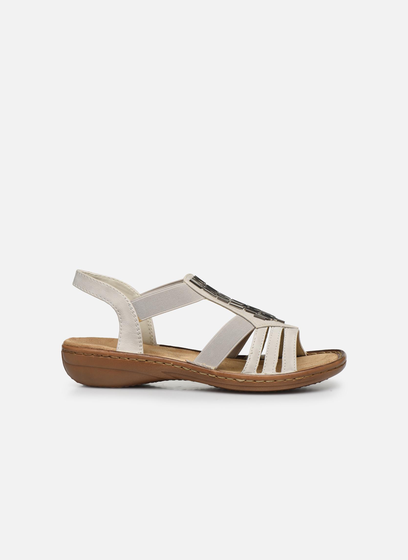 Sandales et nu-pieds Rieker Amty 60801 Blanc vue derrière