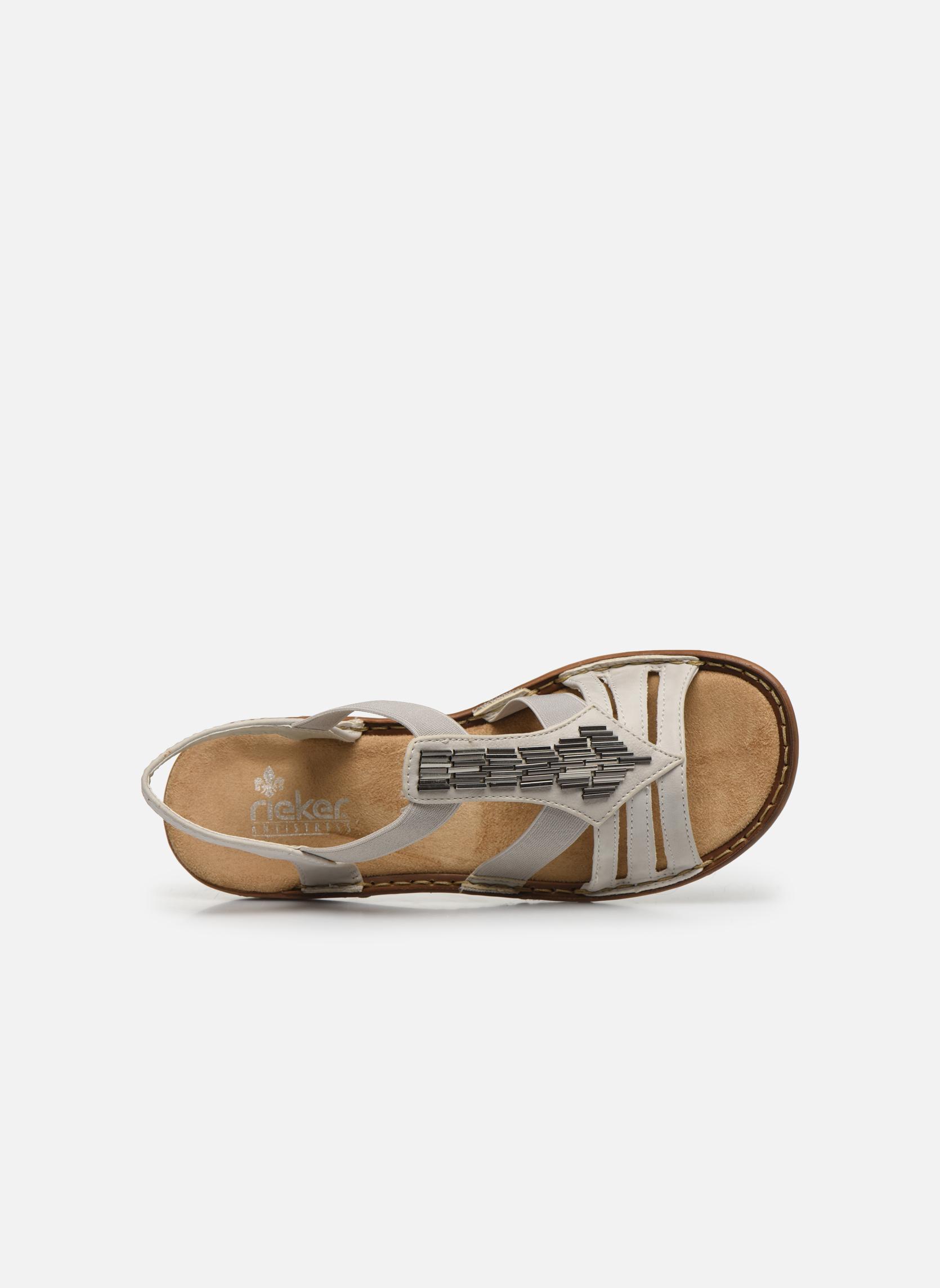 Sandales et nu-pieds Rieker Amty 60801 Blanc vue gauche