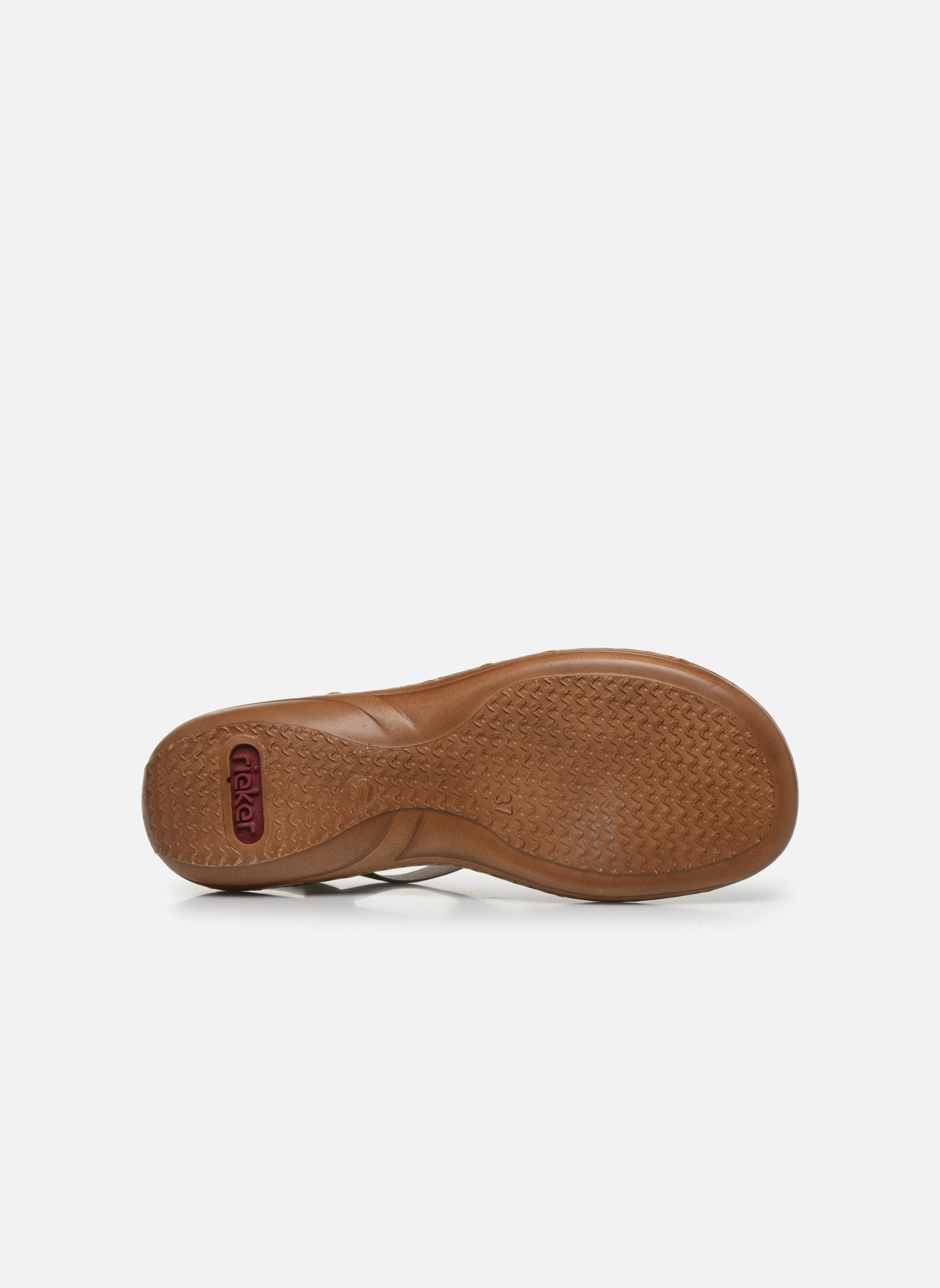 Sandales et nu-pieds Rieker Amty 60801 Blanc vue haut