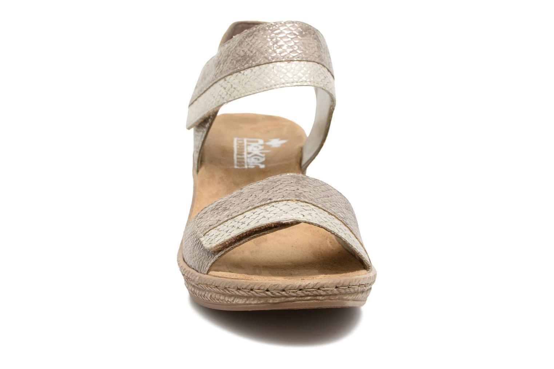 Sandales et nu-pieds Rieker Bente 62470 Or et bronze vue portées chaussures