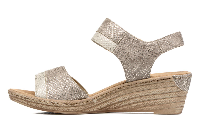 Sandales et nu-pieds Rieker Bente 62470 Or et bronze vue face