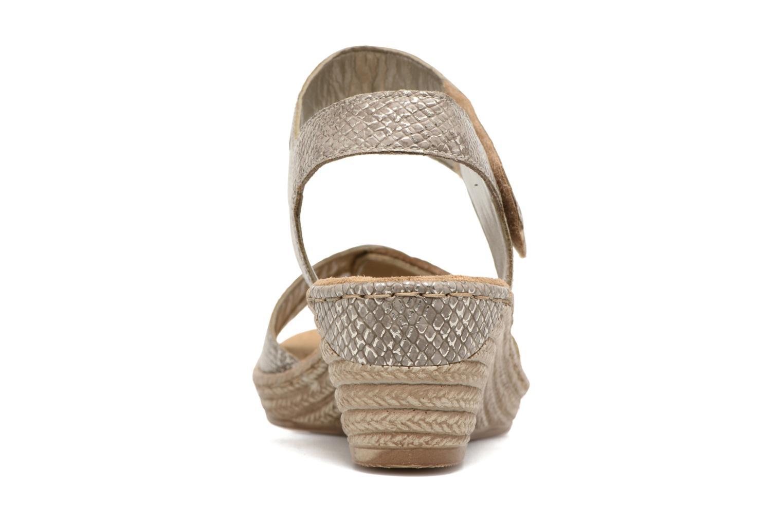 Sandales et nu-pieds Rieker Bente 62470 Or et bronze vue droite