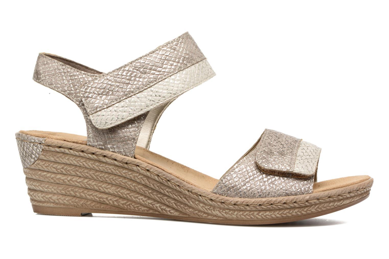 Sandales et nu-pieds Rieker Bente 62470 Or et bronze vue derrière