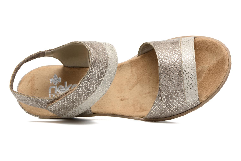 Sandales et nu-pieds Rieker Bente 62470 Or et bronze vue gauche