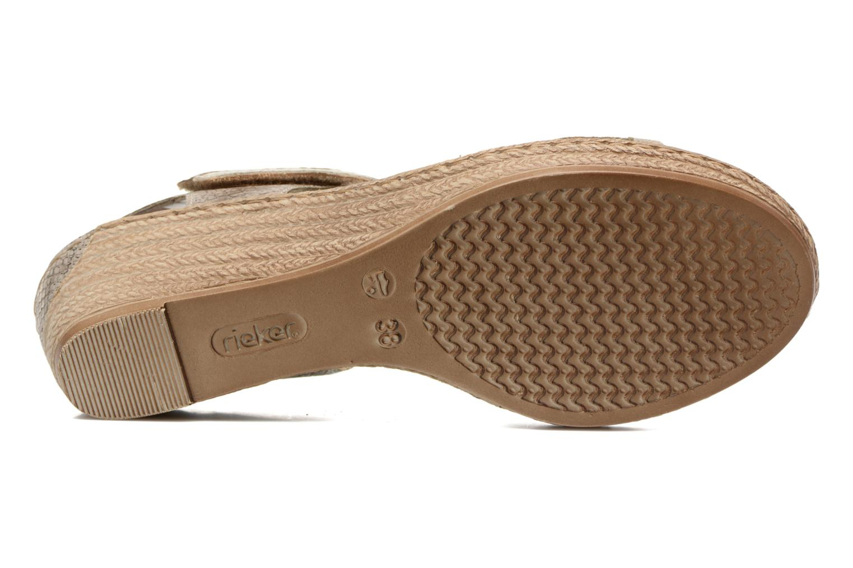 Sandales et nu-pieds Rieker Bente 62470 Or et bronze vue haut
