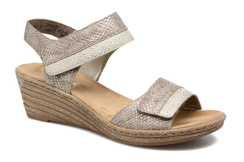 Sandales et nu-pieds Rieker Bente 62470 Or et bronze vue détail/paire