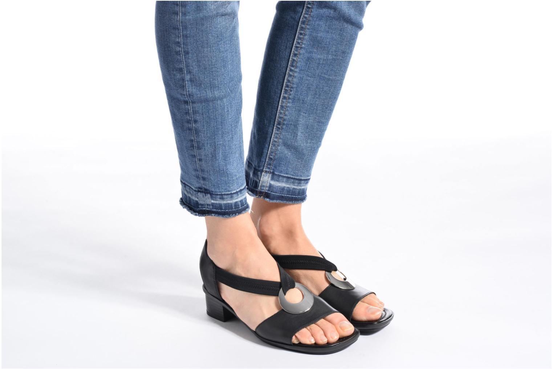 Sandales et nu-pieds Rieker Eline 62662 Noir vue bas / vue portée sac