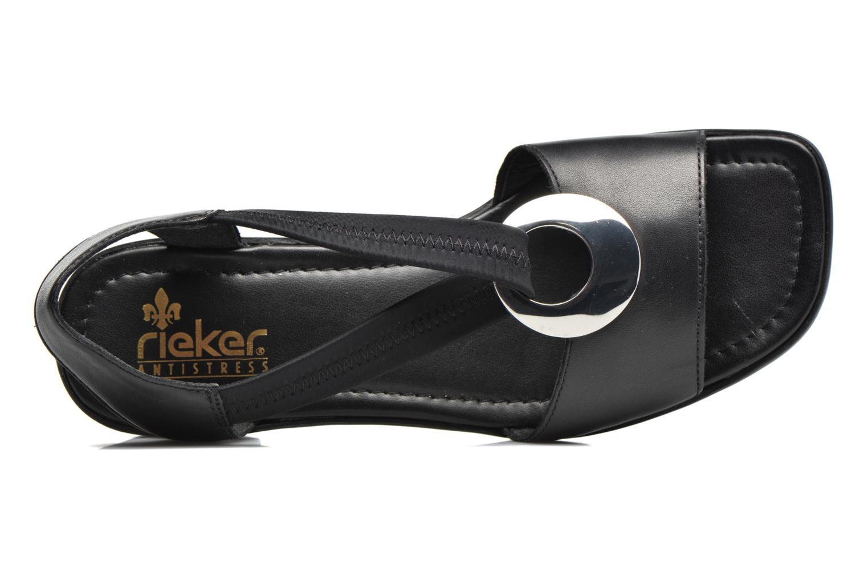 Sandales et nu-pieds Rieker Eline 62662 Noir vue gauche