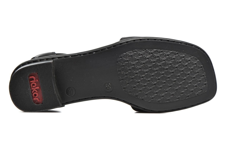 Sandales et nu-pieds Rieker Eline 62662 Noir vue haut