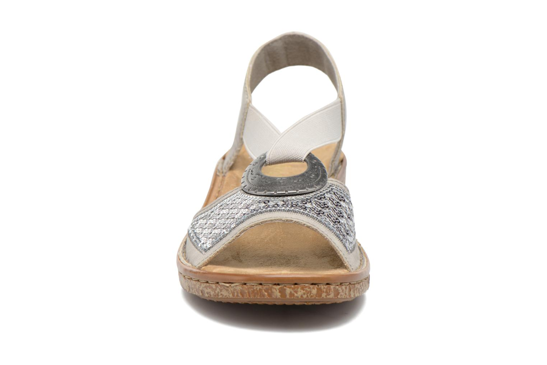 Sandales et nu-pieds Rieker Erna 62809 Argent vue portées chaussures