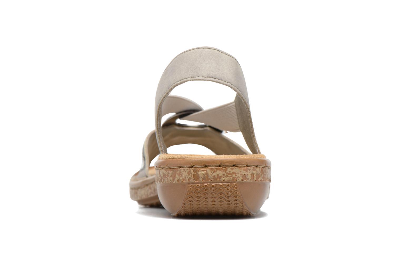 Sandales et nu-pieds Rieker Erna 62809 Argent vue droite