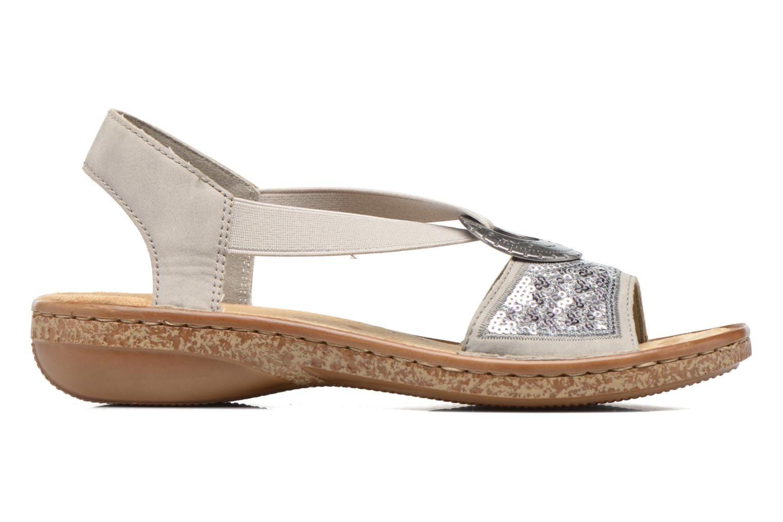 Sandales et nu-pieds Rieker Erna 62809 Argent vue derrière