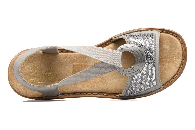 Sandales et nu-pieds Rieker Erna 62809 Argent vue gauche