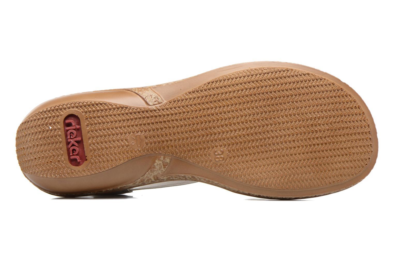 Sandales et nu-pieds Rieker Erna 62809 Argent vue haut