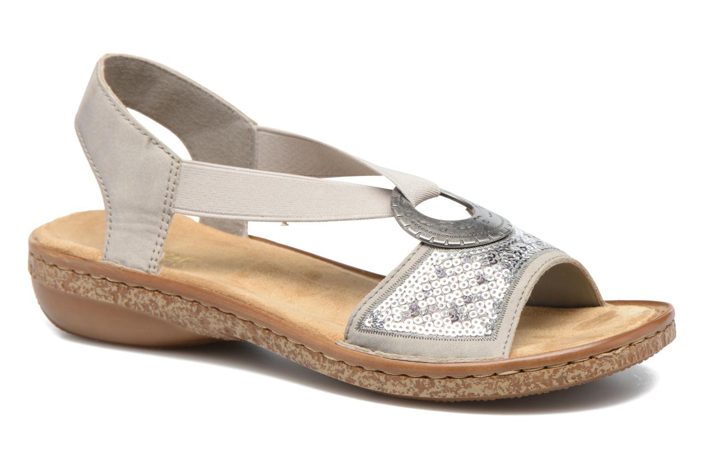 Sandales et nu-pieds Rieker Erna 62809 Argent vue détail/paire