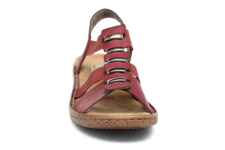 Sandales et nu-pieds Rieker Augusta 62850 Rouge vue portées chaussures