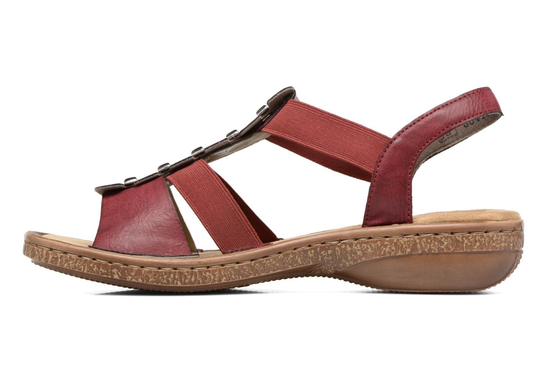 Sandales et nu-pieds Rieker Augusta 62850 Rouge vue face