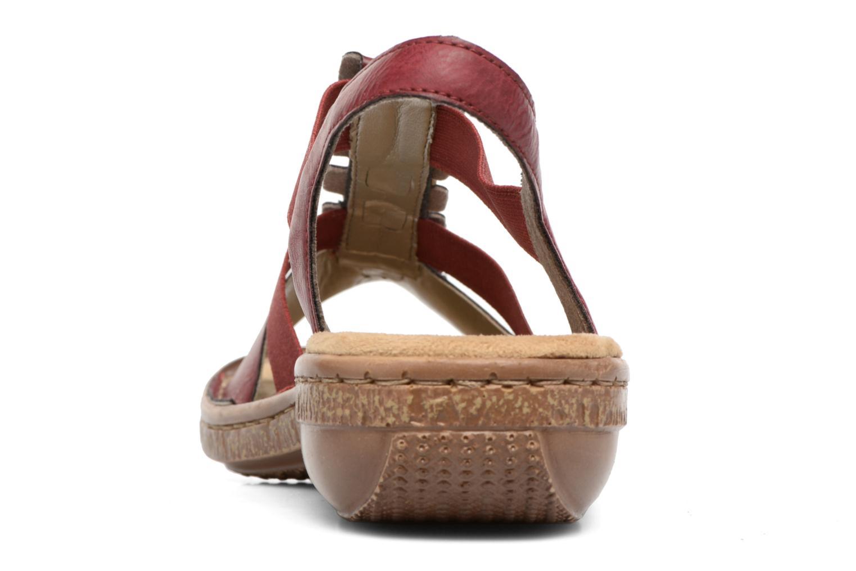 Sandales et nu-pieds Rieker Augusta 62850 Rouge vue droite