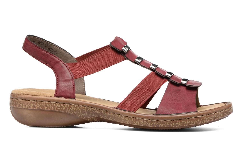 Sandales et nu-pieds Rieker Augusta 62850 Rouge vue derrière