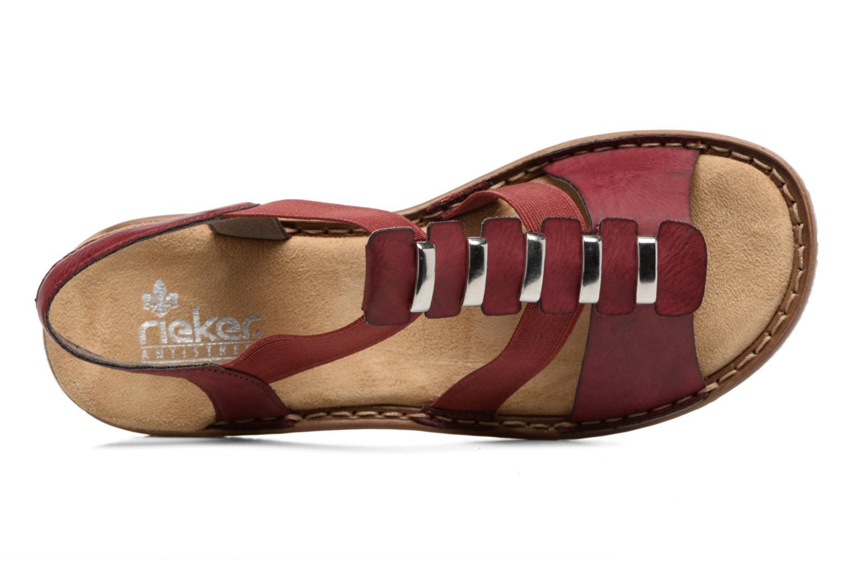 Sandales et nu-pieds Rieker Augusta 62850 Rouge vue gauche