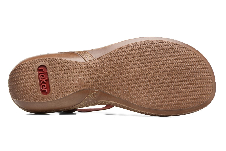 Sandales et nu-pieds Rieker Augusta 62850 Rouge vue haut