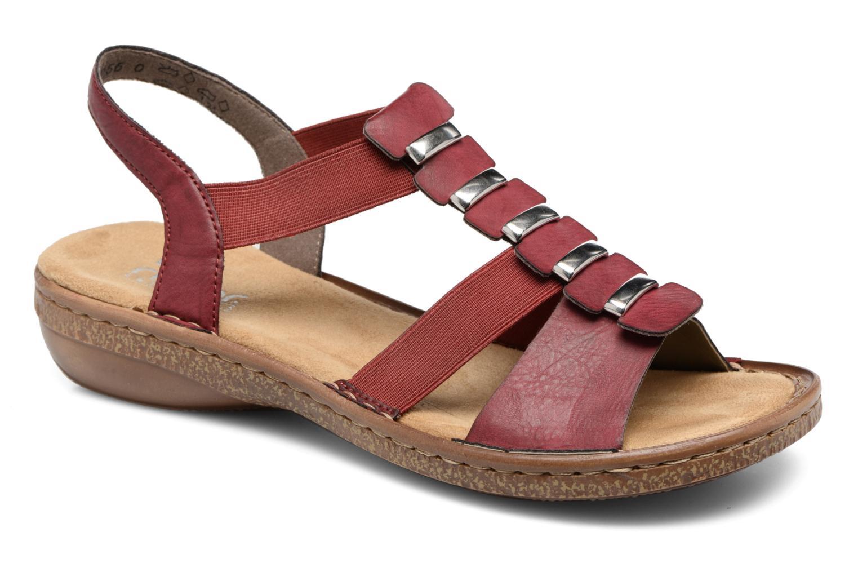 Sandales et nu-pieds Rieker Augusta 62850 Rouge vue détail/paire