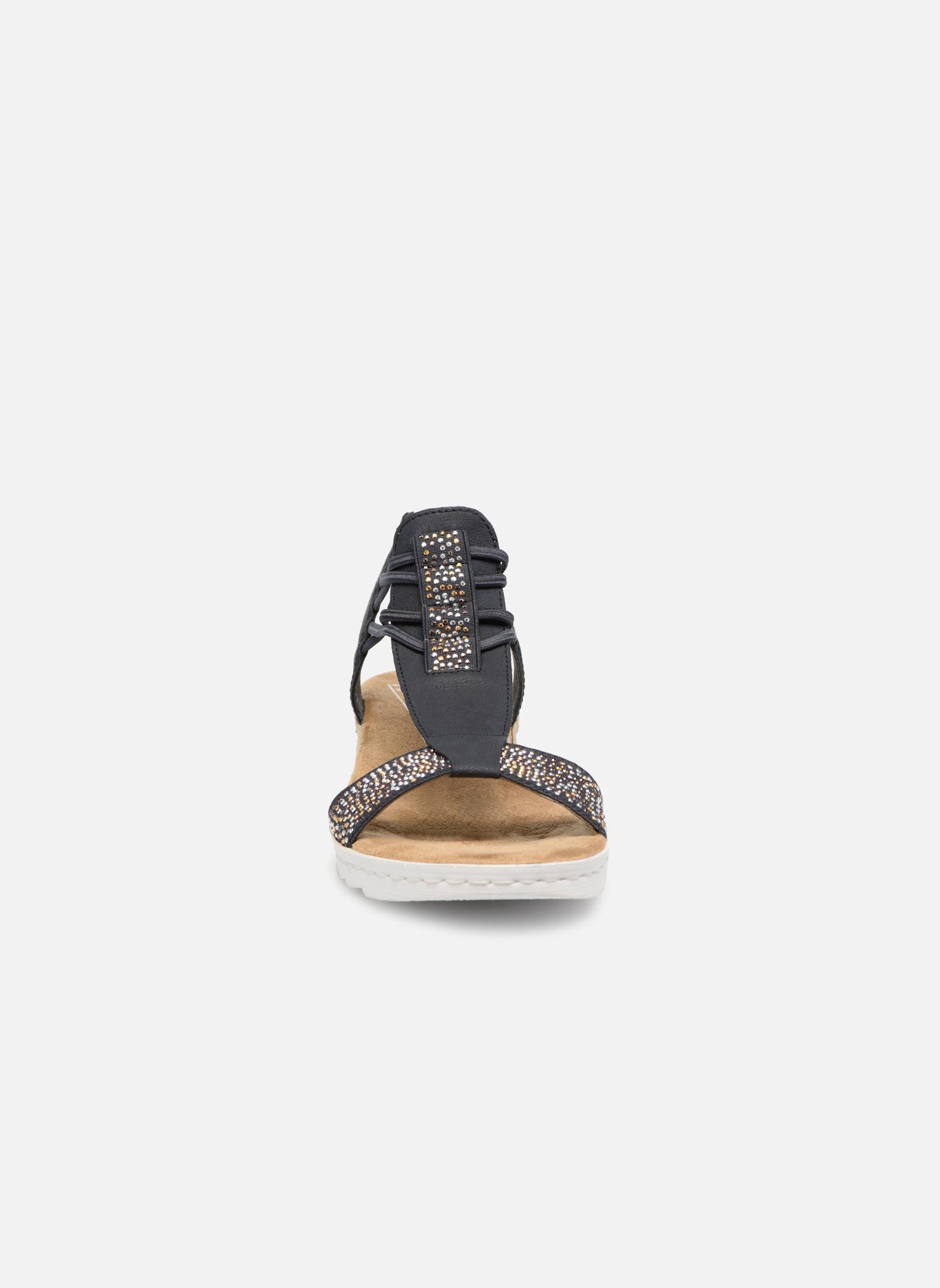 Sandales et nu-pieds Rieker Inge 63062 Bleu vue portées chaussures