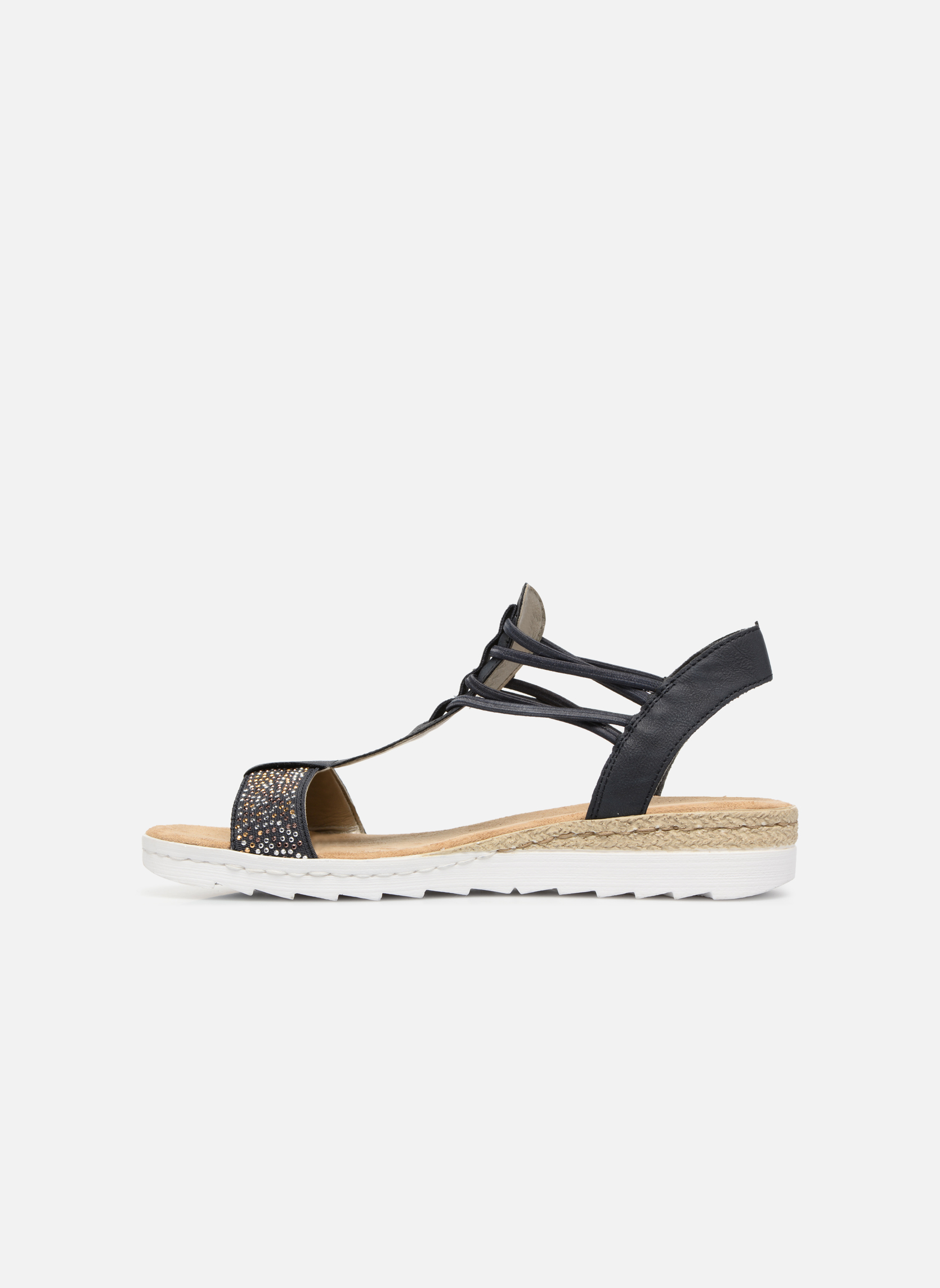 Sandales et nu-pieds Rieker Inge 63062 Bleu vue face