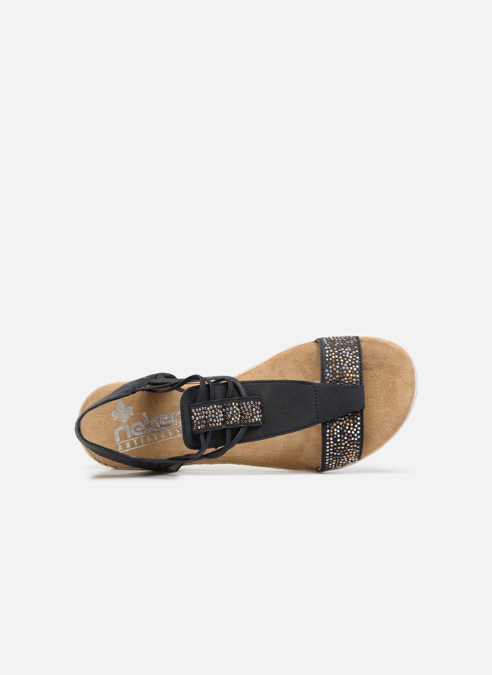 Sandales et nu-pieds Rieker Inge 63062 Bleu vue gauche