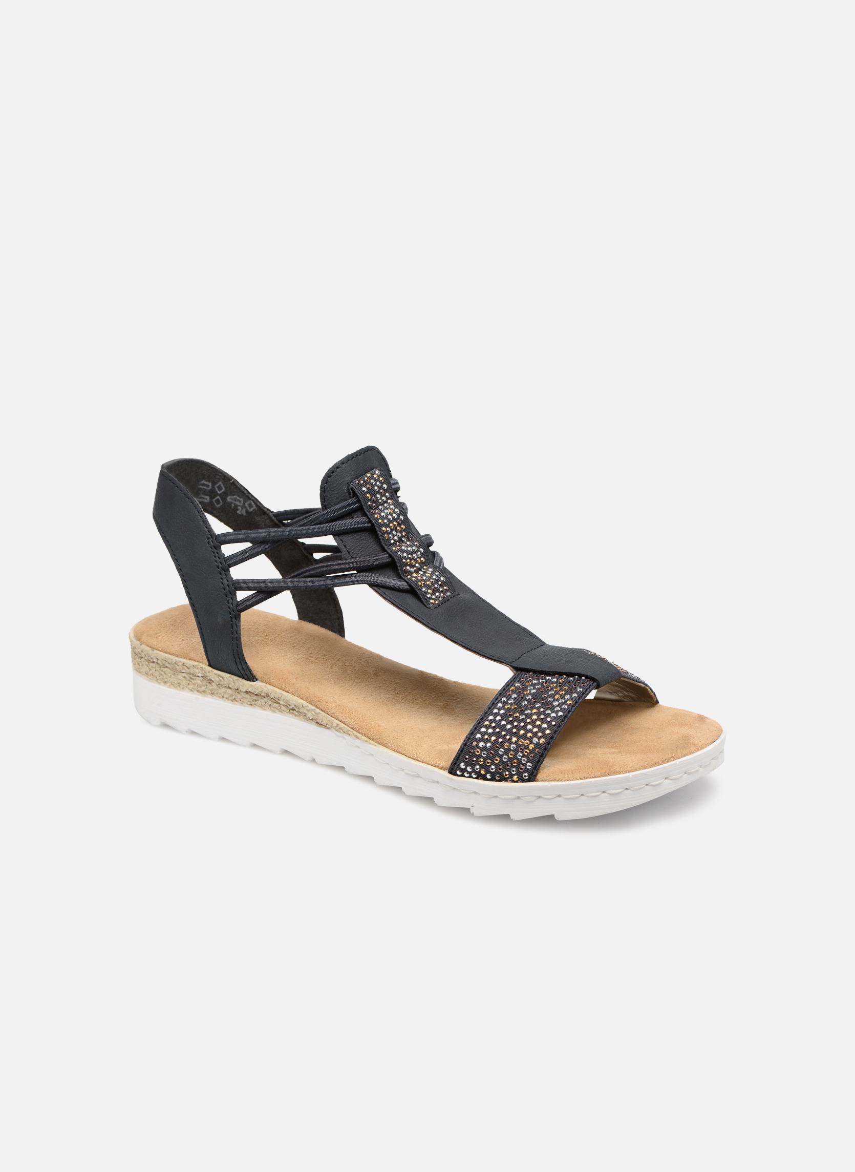 Sandales et nu-pieds Rieker Inge 63062 Bleu vue détail/paire