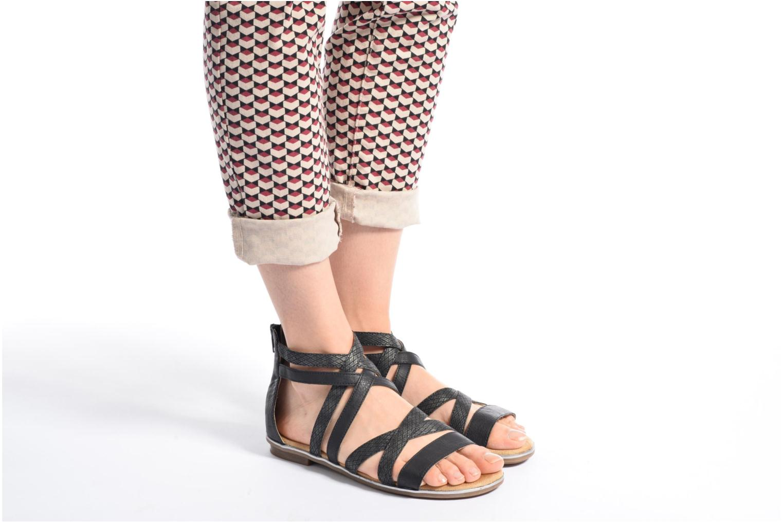 Sandales et nu-pieds Rieker Roos K0855 Noir vue bas / vue portée sac