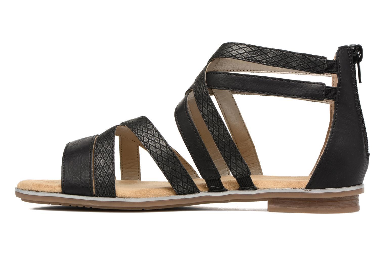 Sandales et nu-pieds Rieker Roos K0855 Noir vue face